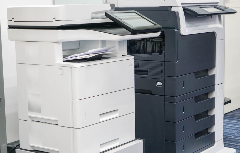 Xerox copiers in office