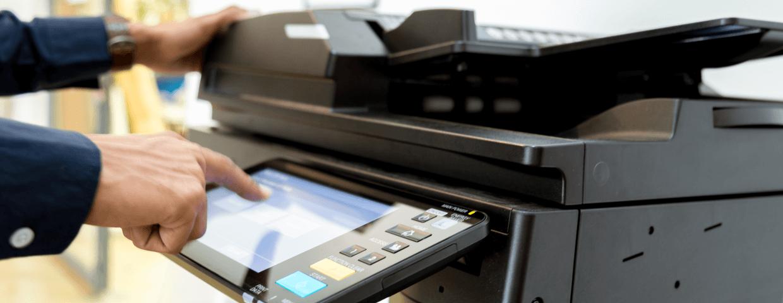 Work employee using offie printer.